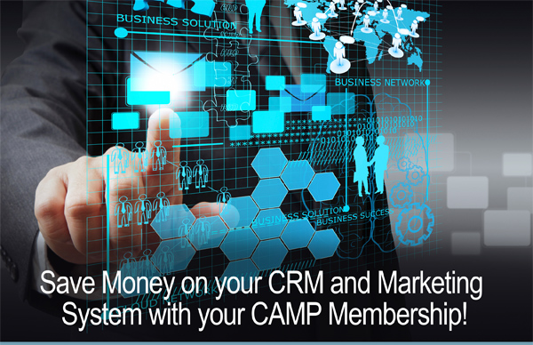SAve money on your CRM and marketing system with your camo membership