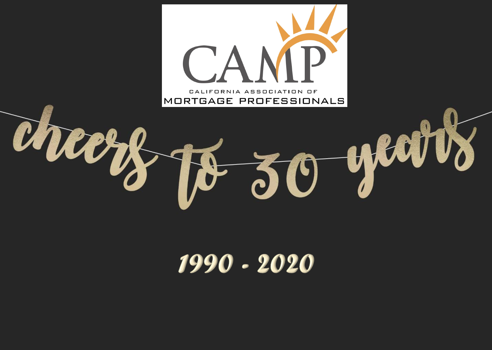 Camp Cheers to 30 years logo